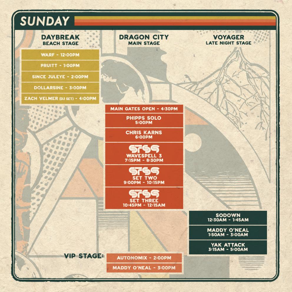 Wavespell 2019 Sunday Schedule